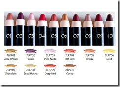NYX Jumbo Lip Pencil cor 01 a 10