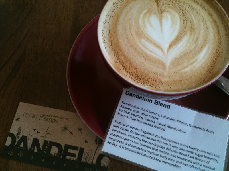 Flat white and tasting notes