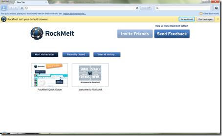 Inilah rasanya Rockmelt, browser baru para Facebook mania !
