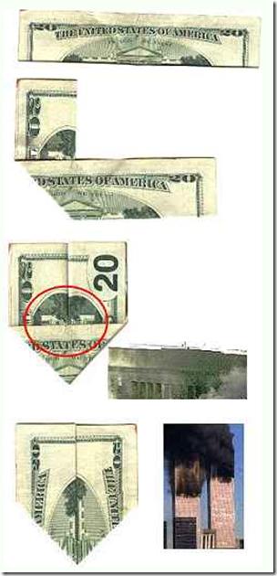 Cerita tentang serangan menara kembar WTC ternyata terdapat pada uang dollar