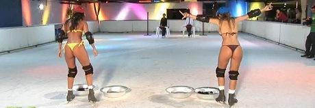 bikini-ice-skating