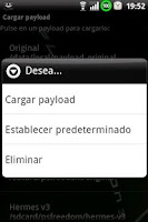 Screenshot of PSFreedom Manager for HTC G1