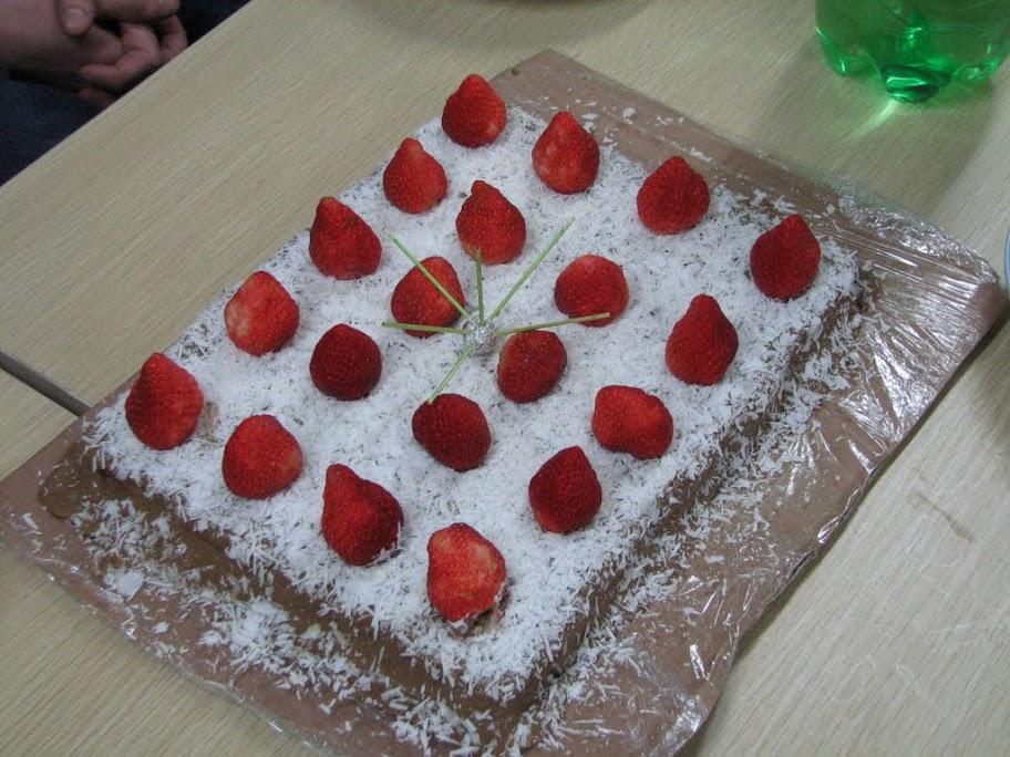 Le gâteau.