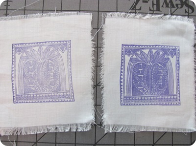 Tamdoll stamping on fabric