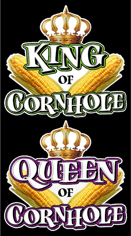 Pair Of 11x12 Quot King Queen Of Cornhole Quot Baggo Quot Decal Ebay