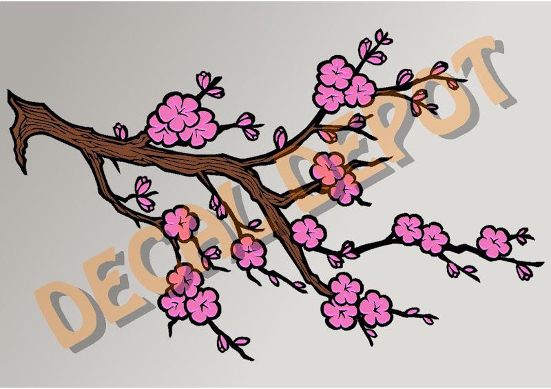 NEW Cherry Blossom Tree Branch Vinyl Childerns Wall Art ...