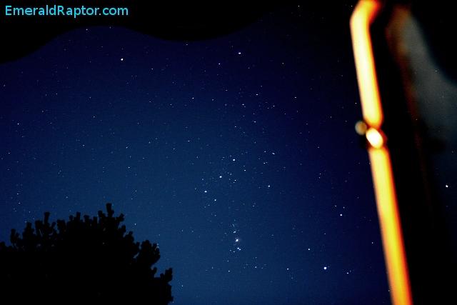 Stjernebildet Orion med Orions belte og Oriontåken