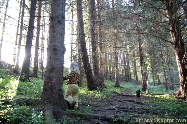 Prinsesse Gullhår og Bagheera i Eventyrskogen