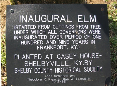 Inaugural Elm - Kentucky governors