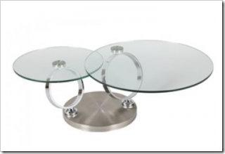table basse ne verre ronde