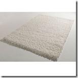 tapis shaggy blanc