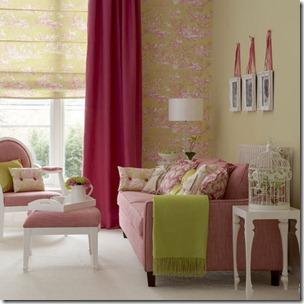 salon rose & vert