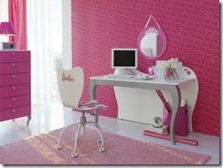 chambre de fille rose & blanc