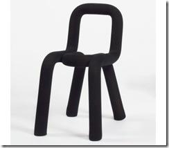 chaise bold moustache noire