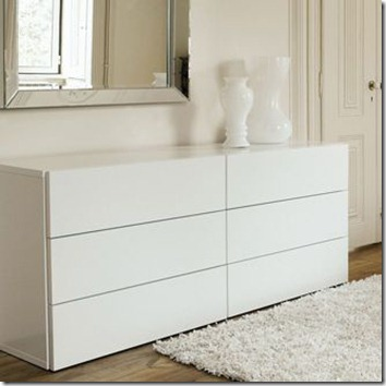 commode design en blanc