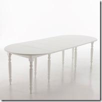 table ronde en blanc