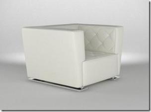 fauteuil cuir blanc