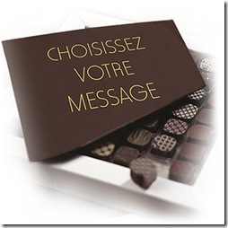 chocolats messagers