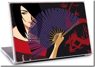 stickers laptop china girl