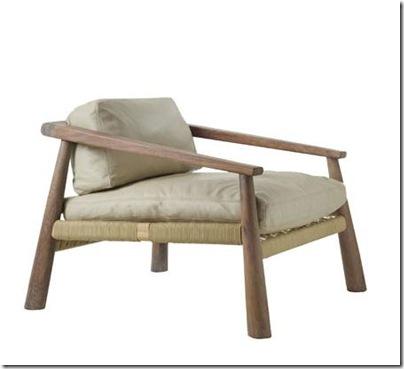 chaise en bois style africain