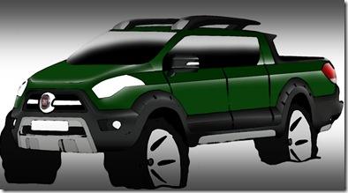 Sketch picape Fiat