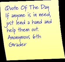 6th grade quote