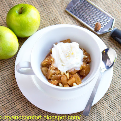 2 Minute Apple Pie in a Mug