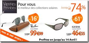 vente privée Lunette de soleil rue du commerce