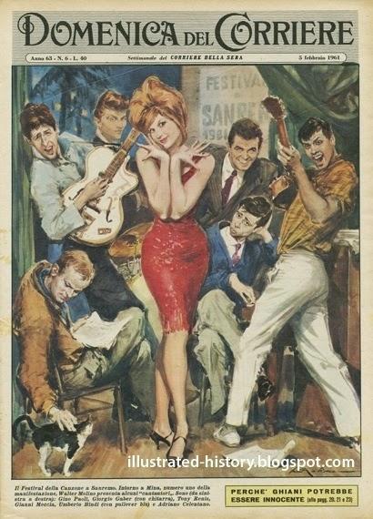 Illustrated history domenica del corriere 5 febbraio 1961 for Schedina della domenica