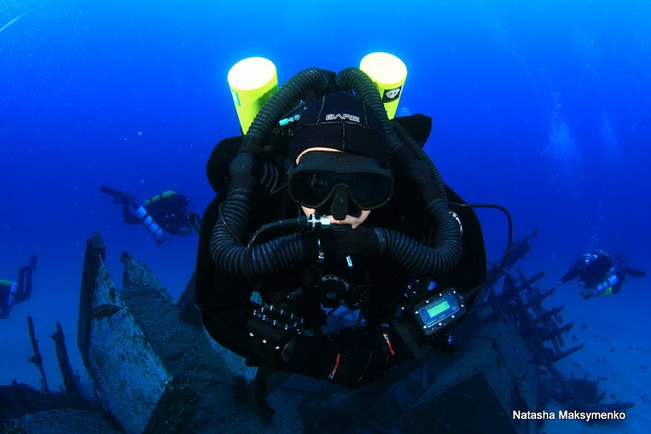 Chris on a Meg Dive!