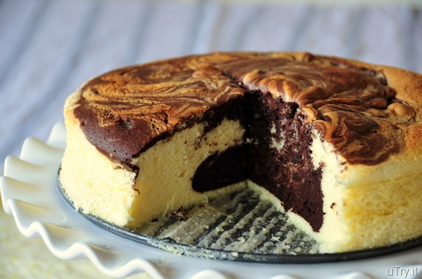 Marbled Japanese Cheesecake
