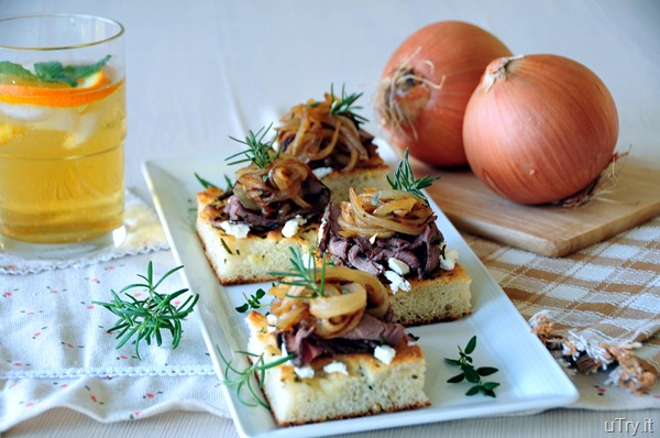 288editedCaramelized Onion-Roast Beef and Goat Cheese Focaccia