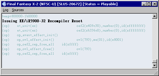 pcsx2_0.9.7_r3001_console_window_title_showing_game_compatibility