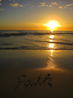 Faith's Name in the Sand
