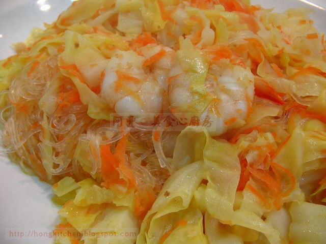Stir-Fried Cabbage Glass Noodles