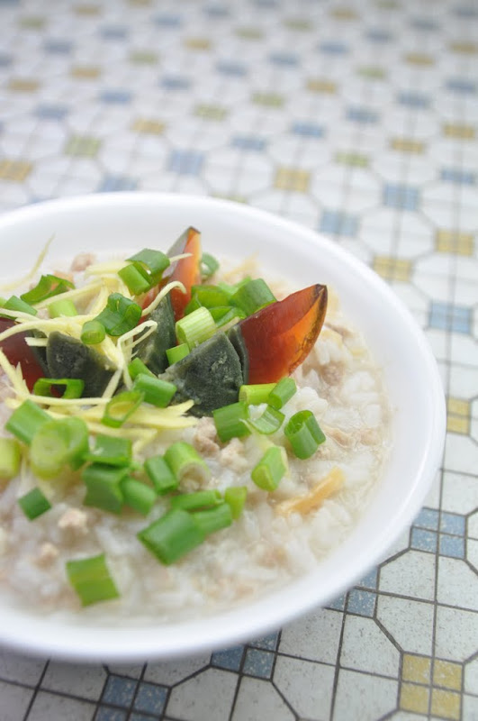Century Egg Minced Pork Porridge