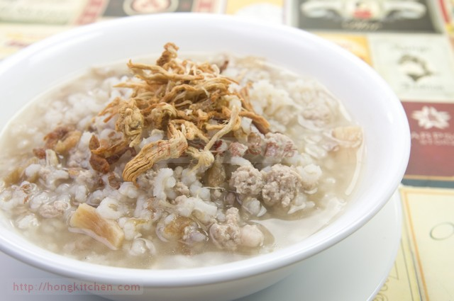 Minced Pork Porridge (Brown Rice)