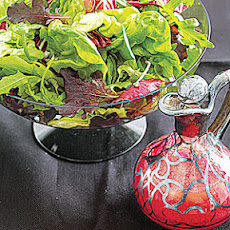 Green Salad with Beet Vinaigrette