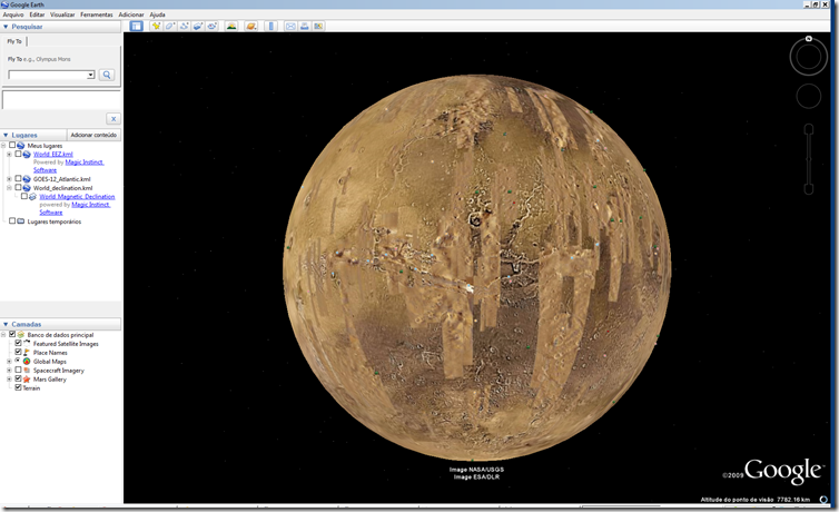 Google Earth 5 Explorando marte