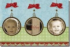 5x7 christmas card ornament