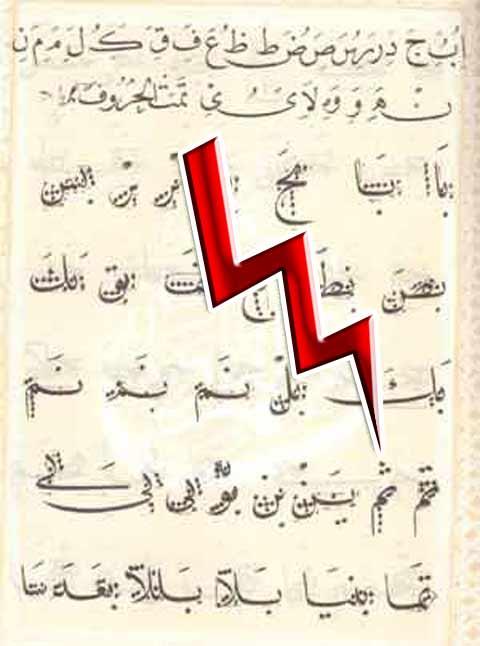 Арабский алфавит, произнесение арабского звука (C)-межзубной