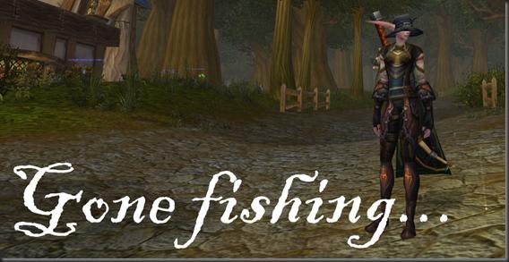 Gone fishing logo