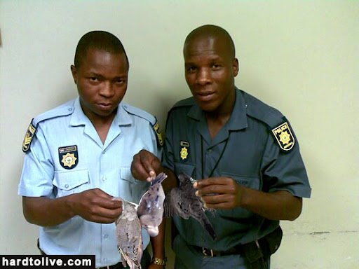 cops photoshopped to look like hunters