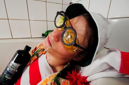waldo in a bathtub as hunter s thompson