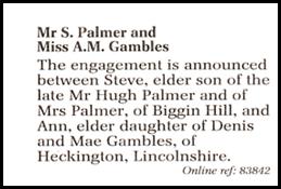 WeddingAnnouncement - Daily Telegraph
