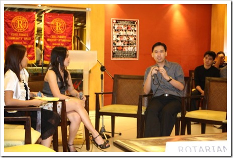 Jon Fredrich Siu interviewed by rotaract hosts