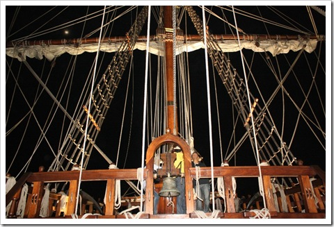 Galleon Andalucia bells and ship ropes