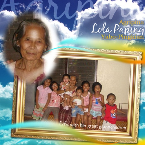 poster for Lola Agripina 'Paping' Yabo-Pingkian