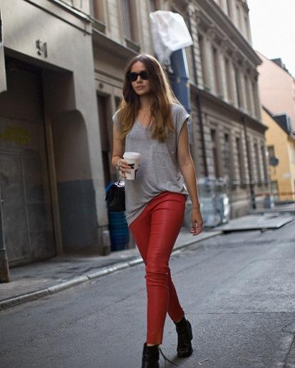 caroline red pants