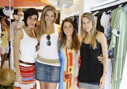 Clariana Gonzaga, Viviane Lopes, Fabiana Ortiga e Fernanda Leão